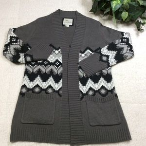 Bob Jimley Aka Long Sleeve Two Pocket Cardigan L
